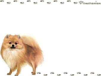 Pomeranian, Pom Pom clipart graphics (Free clip art.