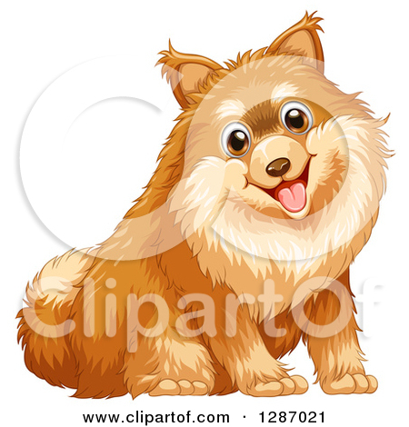Clipart of Schnauzer, Pomeranian, Yellow Lab, and Chihuahua Dogs.