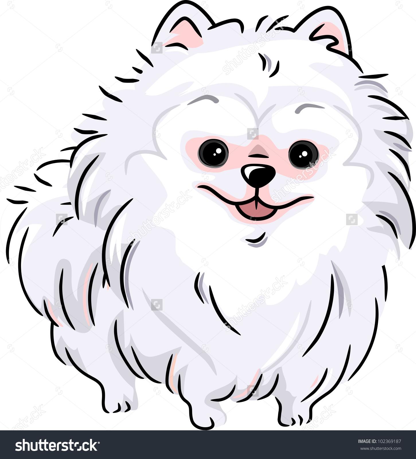 Pomeranian Puppy Clip Art.