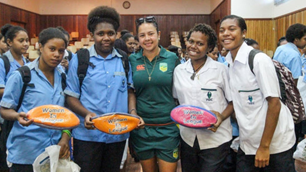 Jillaroo visits PNG to promote female participation.