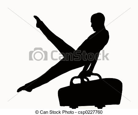 Stock Photography of Man on pommel silhouette csp0227760.