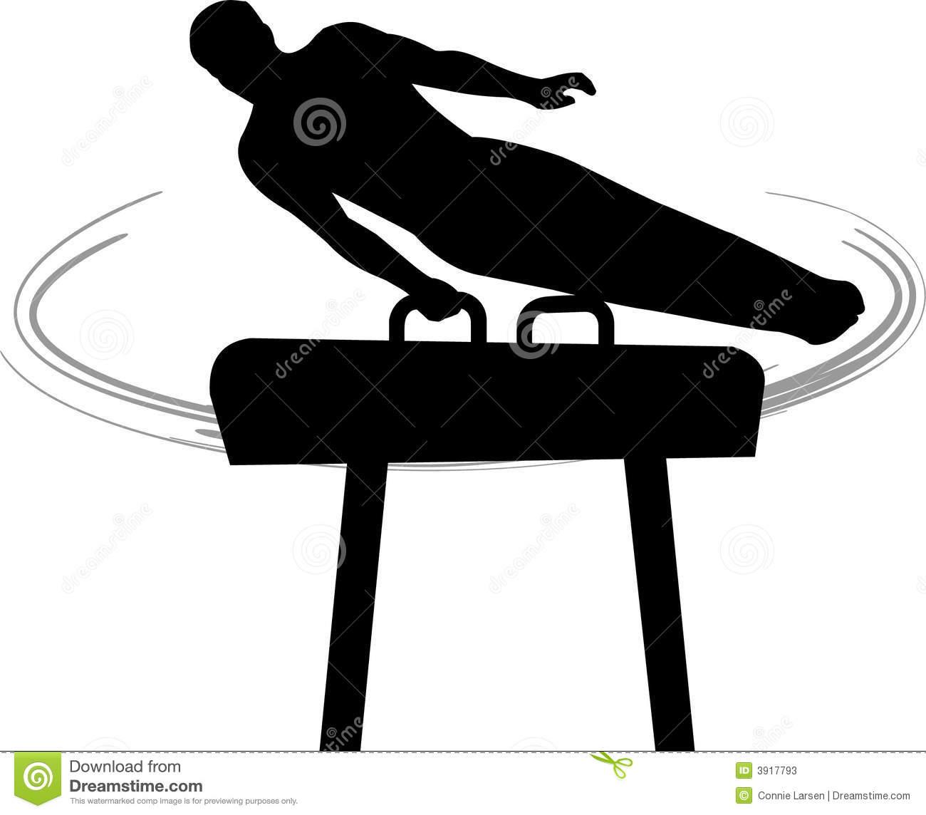 Men's Gymnastics Pommel Horse Stock Photos.