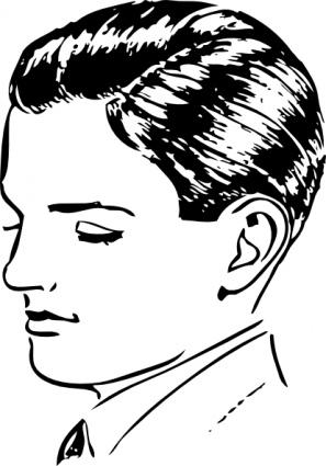 Boys Side Part clip art vector, free vectors.