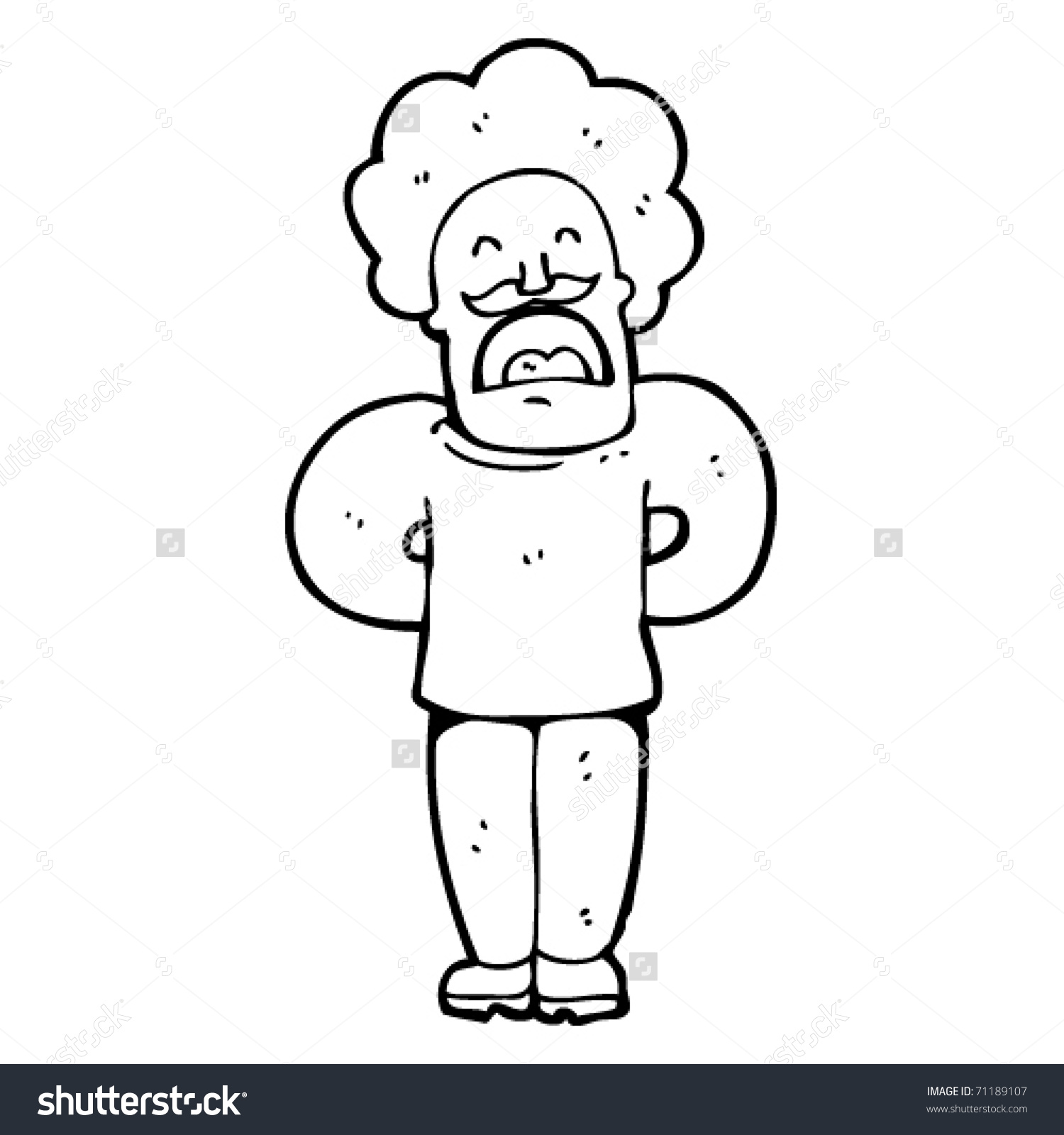 Pompous Man Telling Story Cartoon Stock Vector Illustration.