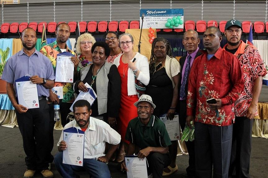 APTC students graduate in Papua New Guinea.