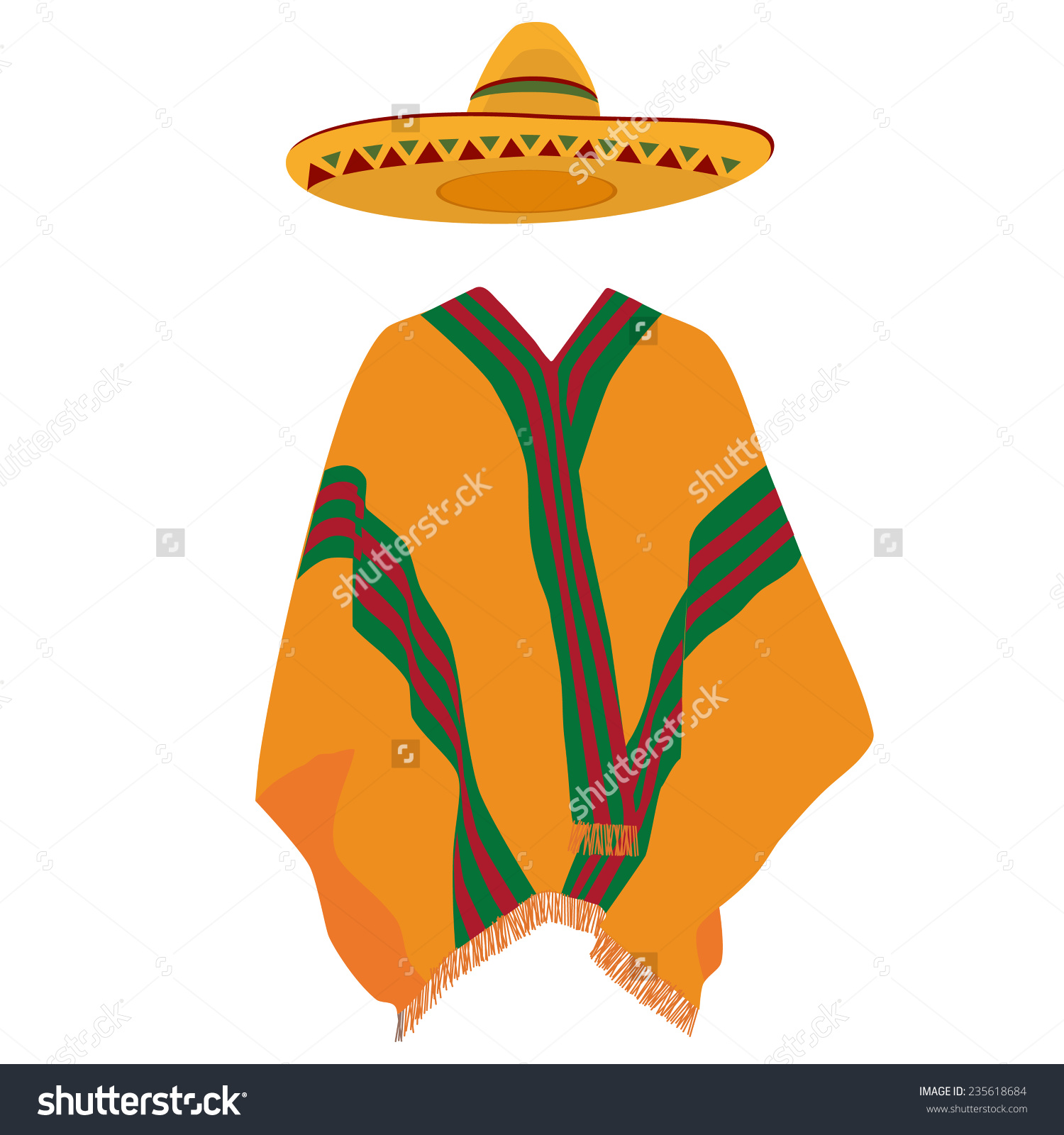 Poncho clipart clear background.