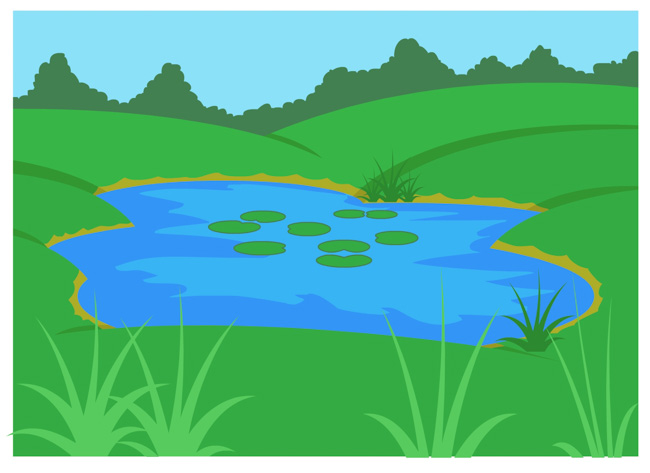 Top pond clip art free clipart image 2.