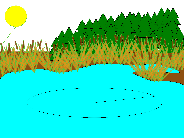 Duck Pond Background Clipart.
