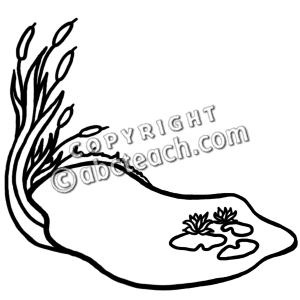 Pond Clip Art Black And White.