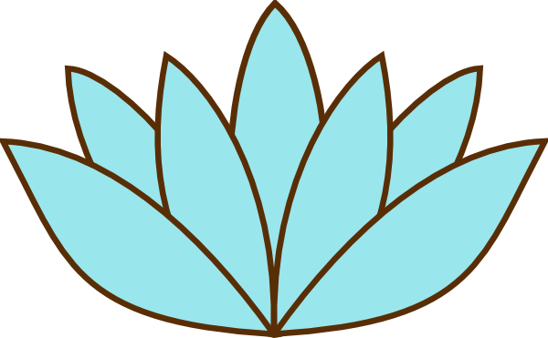 Lily pad flower clipart.