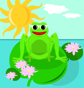 Free Frogs Clip Art Image.