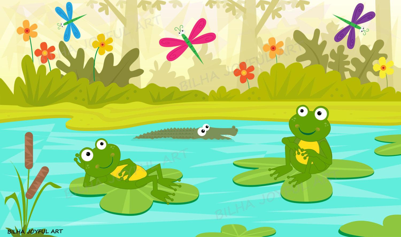 Pond clipart.