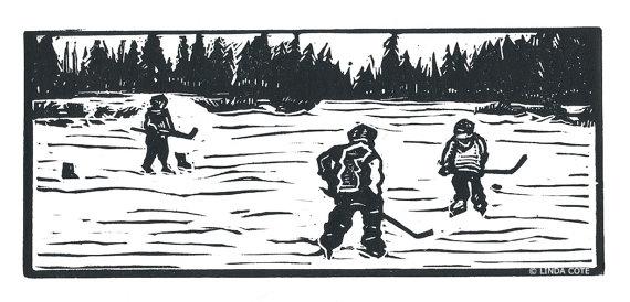 Pond Hockey Clipart.