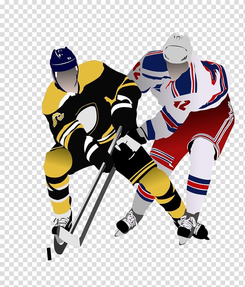 Ice hockey Pond hockey, Hockey players transparent.