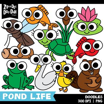 Doodle Pond Life Tools Clipart Set {Zip.