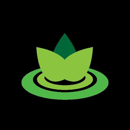 Pond Agriculture Flower Logo.