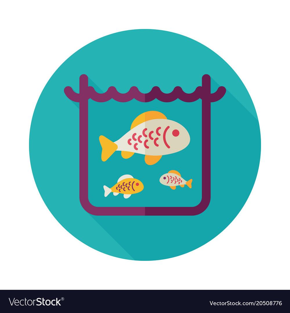Fish in a pond or aquarium icon.