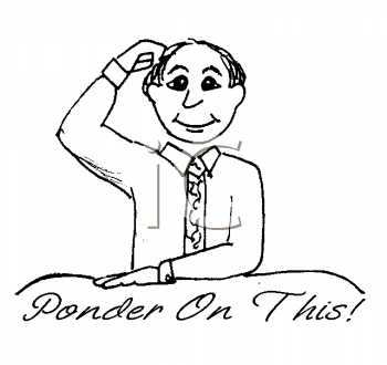 Royalty Free Clipart Image: Man Scratching His Head and Pondering.