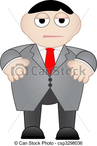 Stock Illustration of Royalty Free Stock Images: Business Man Dull.