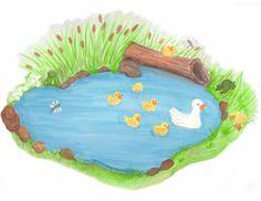 Clipart duck pond.