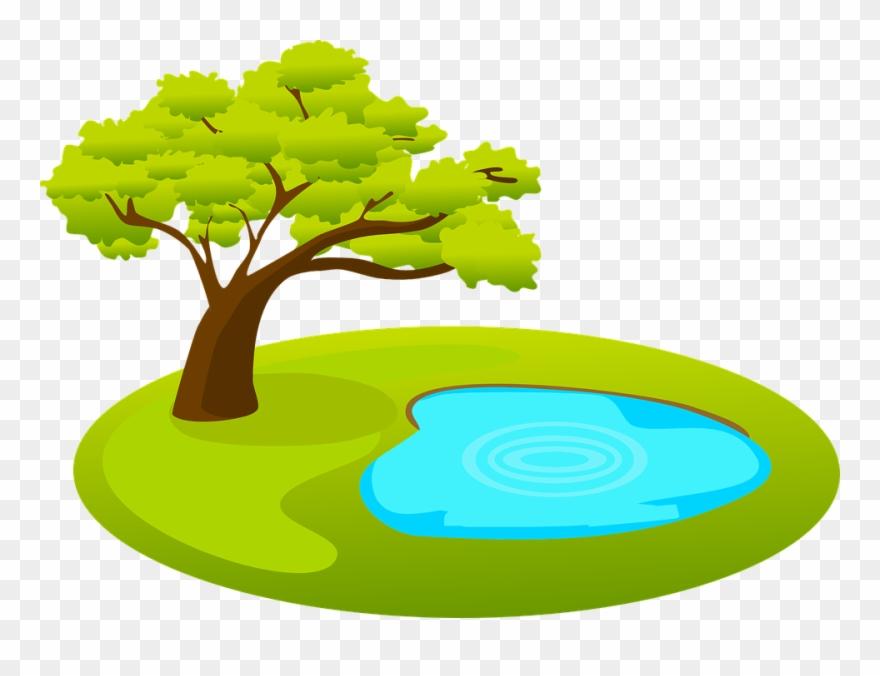 Pond Clipart Garden Theme.