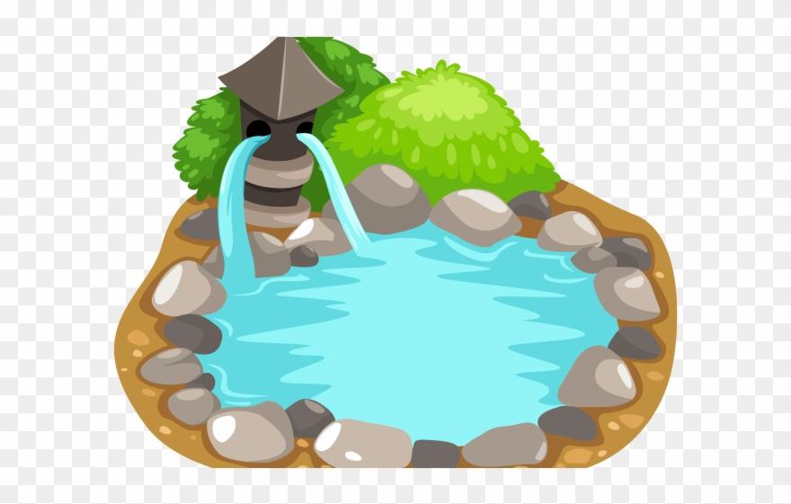 Fountain Clipart Koi Pond.