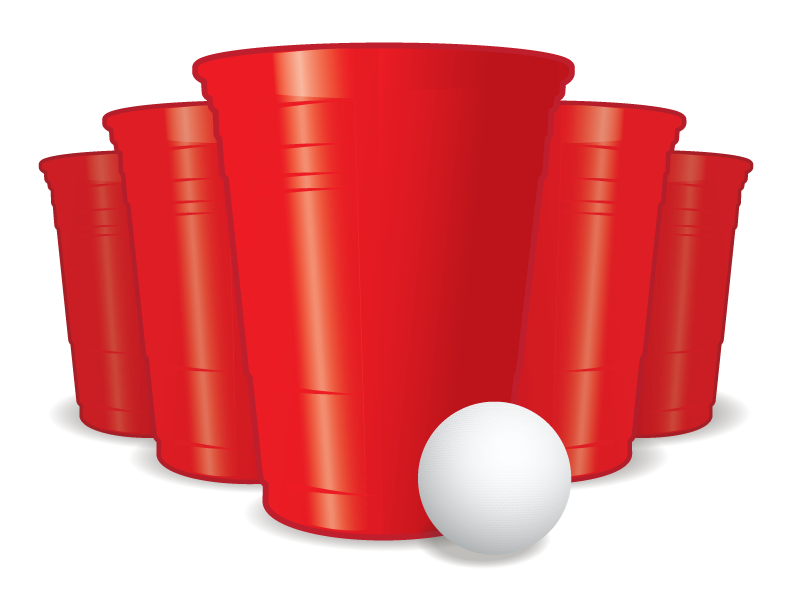 Beer pong clipart.
