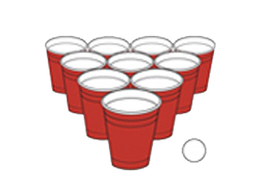 Beer pong cups clipart.