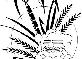 Pongal black and white clipart 11 » Clipart Station.