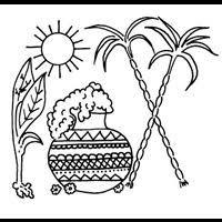 Image result for outline of pongal pot.