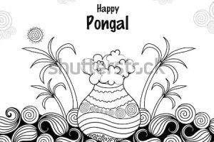 Pongal clipart black and white 8 » Clipart Portal.