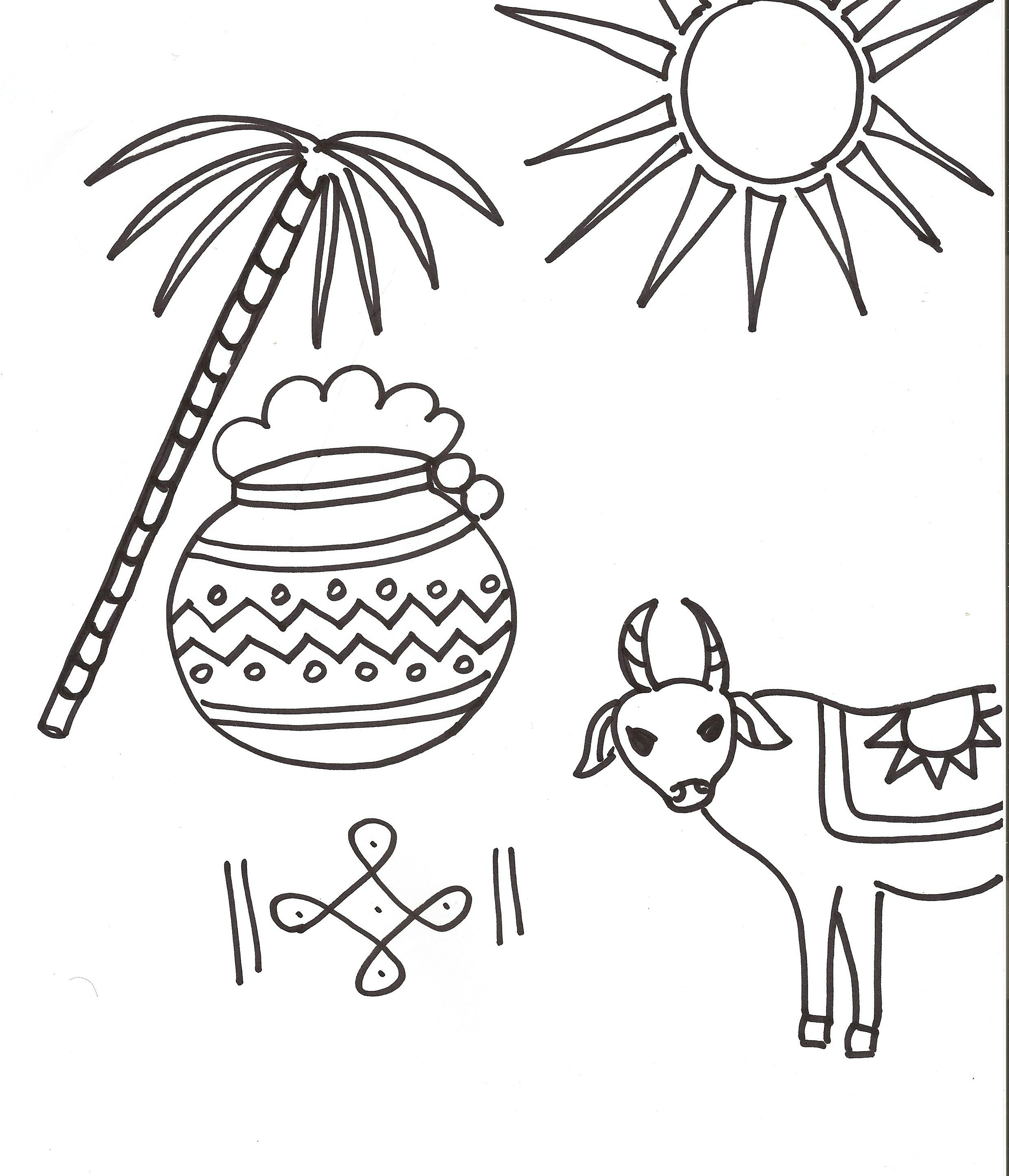 Pongal Coloring Page Download:.