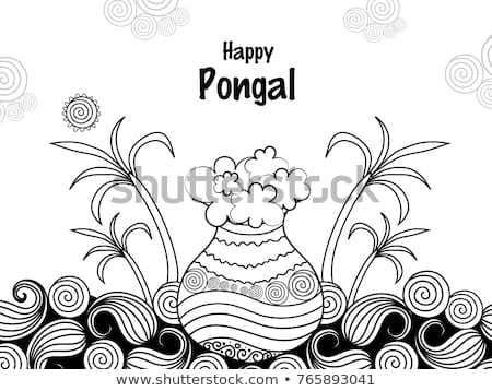 Pongal clipart black and white 9 » Clipart Portal.
