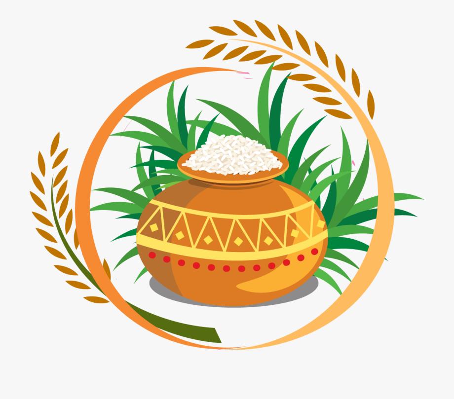 Thai Pongal Harvest Festival Clip Art.