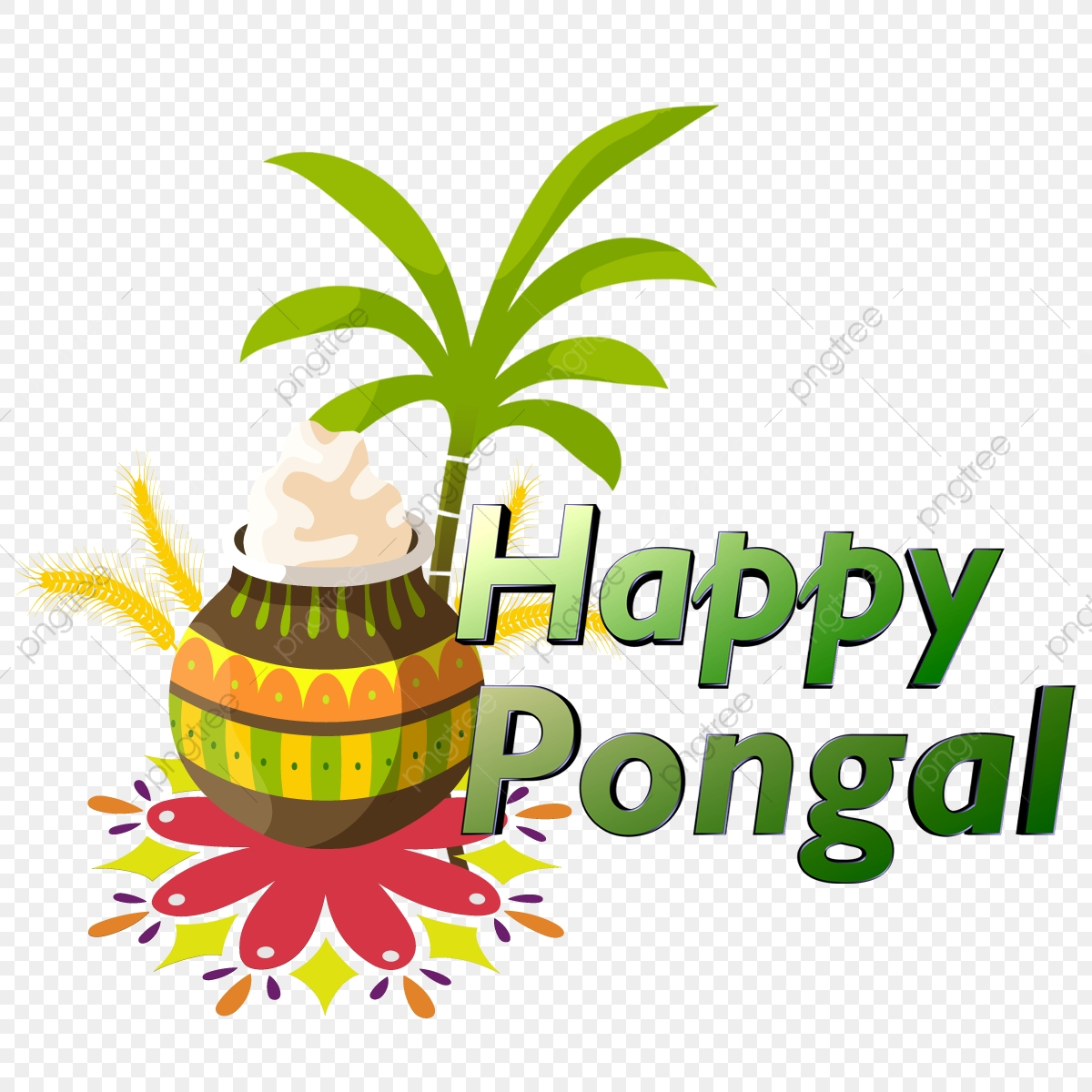Happy Pongal, Pongal Festival, Tamil Festival PNG.