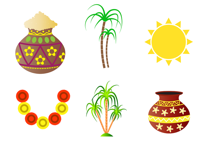 Pongal Free Vector Art.