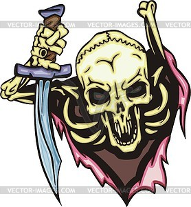 Skull Tattoo Clipart.
