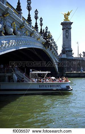 Picture of France, Paris (75), Ile de France, pont Alexandre III.