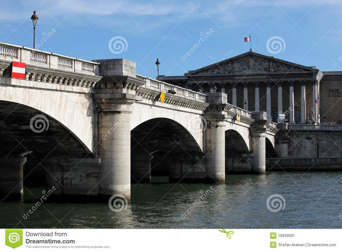 Pont De La Concorde Stock Image.