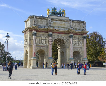 Triumphal Arch Arc De Triomphe Du Stock Photo 117321778.