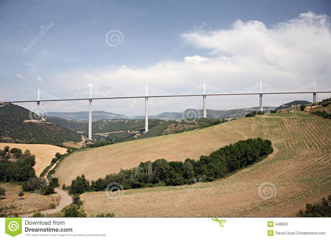 Millau Viaduct / Viaduc De Millau Editorial Stock Photo.