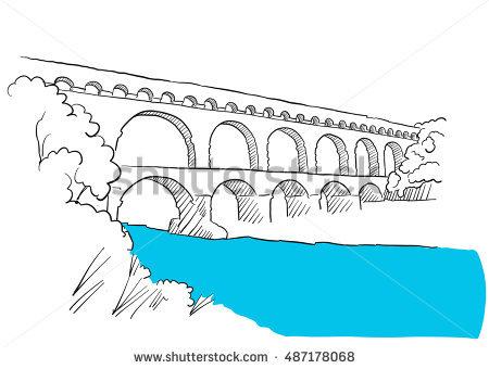Pont Du Gard Stock Photos, Royalty.