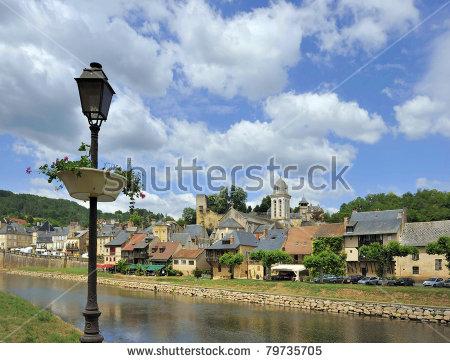 Dordogne River Stock Photos, Royalty.