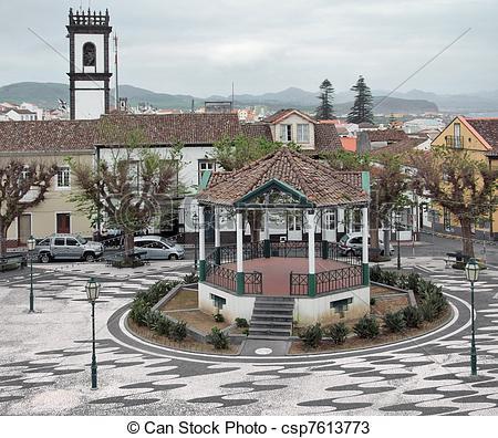 Stock Photos of urban scenery at Ponta Delgada.