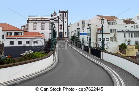 Stock Images of street scenery at Ponta Delgada.