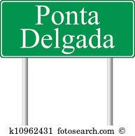 Ponta delgada Clipart Vector Graphics. 2 ponta delgada EPS clip.