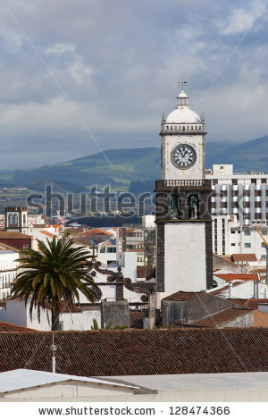Vector Images, Illustrations and Cliparts: Roofs of Ponta Delgada.