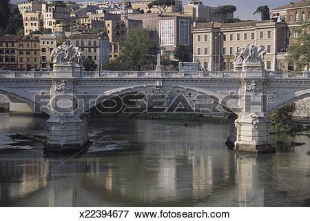 Picture of Ponte Victor Emmanuel II Bridge, Rome, Italy x22394677.