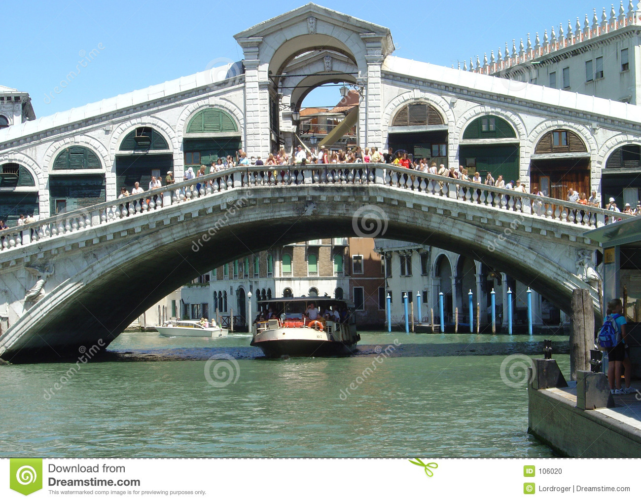 Ponte Di Rialto Stock Photo.