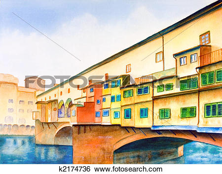 Stock Illustration of Ponte vecchio k2174736.